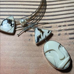 Artfully designed sterling necklace-Shirley Price.